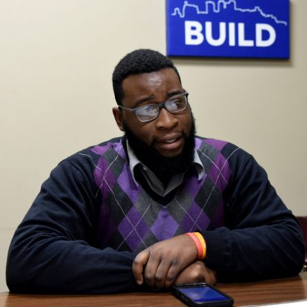 Elijah E. Davis, strategic growth manager for Urban Impact Inc., discusses plans for revitalization plans for portions of the 4th Avenue District. (Mark Almond)