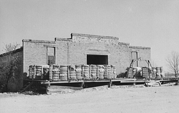Cotton warehouse in Ashford, 1939. (Marion Post Walcott, Library of Congress, Prints and Photographs Division)