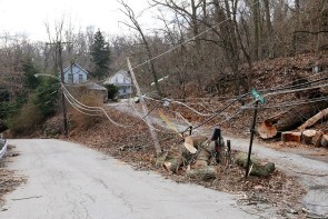 Strong winds caused damaged to Duquesne Light Co.'s infrastructure in the Pittsburgh area. (Duquesne Light Co.)