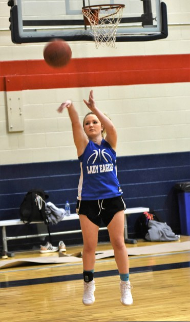 Cold Spring senior Camryn Crider fires a 3-pointer. She's hit 42 percent of her shots from beyond the arc this season. (Solomon Crenshaw Jr. / Alabama NewsCenter)