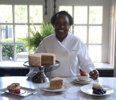 Dolester Miles displays a few of the desserts she has created for Frank and Pardis Stitt's Birmingham restaurants. (file)