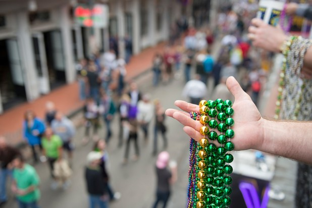 Enjoy throwing of the beads, King Cake and other Mardi Gras festivities. (Getty Images)
