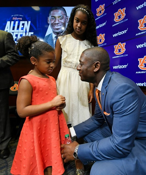 Auburn Athletics Director Allen Greene at his introductory press conference. (Todd Van Emst/AU Athletics)