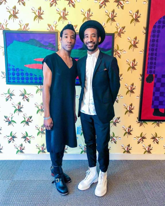Jarrett and Jon Key at their first joint exhibition, titled UNTILL. (Emily Havens)