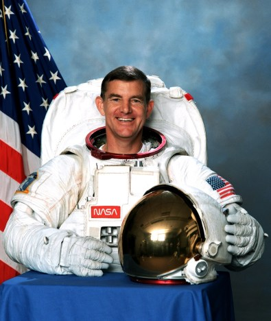 Astronaut James Voss, raised in Lee County, flew on five space shuttle missions and made the longest spacewalk to date while serving on the International Space Station. (From Encyclopedia of Alabama, photo courtesy of the National Aeronautics and Space Administration)