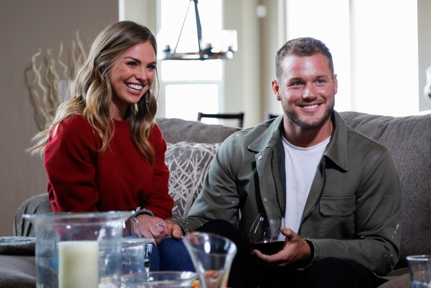 """Hannah Brown and Colton Underwood on """"The Bachelor."""" Brown was rejected by Underwood but chosen to star in the new season of """"The Bachelorette."""" (Josh Vertucci/ABC)"""