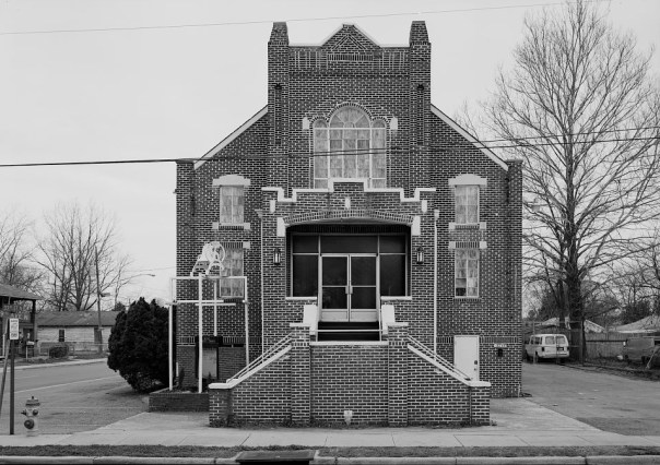 Bethel Baptist Church, 3233 29th Avenue North, Birmingham, 1995. From 1953 to 1961, the Rev. Fred Lee Shuttlesworth pastored Bethel. The church served as headquarters and a frequent meeting place for the Alabama Christian Movement for Human Rights (ACMHR), which Shuttlesworth founded in 1956. (Jet Lowe, Library of Congress, Prints and Photographs Division)