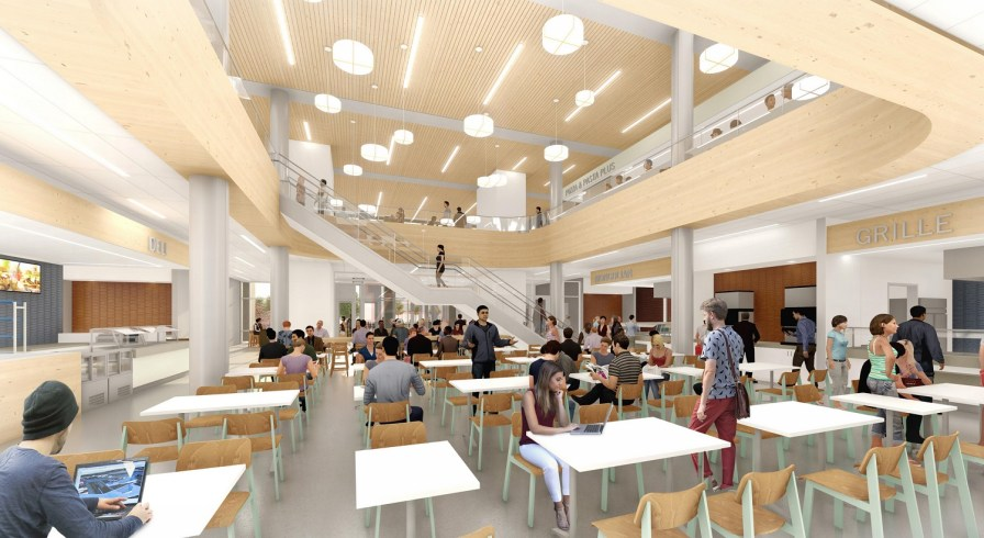 This rendering shows the new dining facility at Auburn University, which will be built next to the new academic classroom and laboratory complex. (Auburn University)