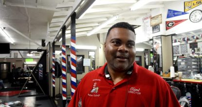Clint Simpson is the second-generation operator of the Alabama College of Barber Instruction in the 4th Avenue District.(Mark Almond)