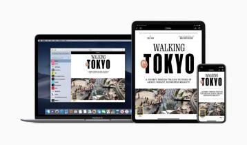 Apple unveiled its Apple News+ subscription service Monday. (Apple Inc.)