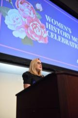 Stephanie Cooper, vice president of Public Relations at Alabama Power, speaks at the Women's History Month breakfast in Birmingham. (Wynter Byrd / Alabama NewsCenter)