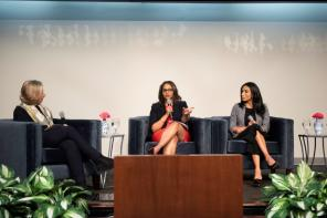 Melanie Bridgeforth, CEO of the Women's Fund of Greater Birmingham, was part of the panel at the Women's History Month breakfast at Alabama Power. (Wynter Byrd / Alabama NewsCenter)