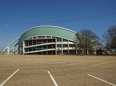 South side of Garrett Coliseum in Montgomery, 2010. (Chris Pruitt)