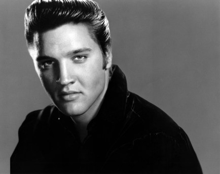 Posed studio portrait of Elvis Presley. (Photo by RB/Redferns)