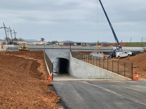 The new oversized vehicle tunnel at Talladega Superspeedway. (Dennis Washington / Alabama NewsCenter)