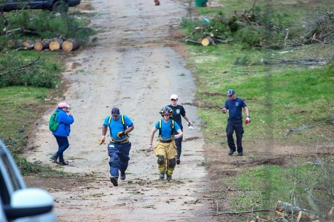 The Allgood community in Blount County is one of several recovering from tornadoes and thunderstorms that swept through Alabama March 14. (Dennis Washington / Alabama NewsCenter)