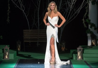 Hannah Brown competes for the title of Miss Alabama USA, which she won. (file)