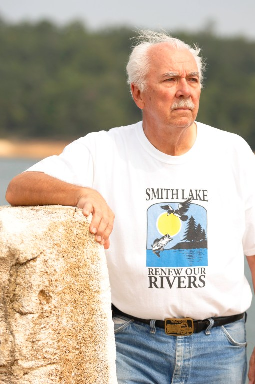 John Kulbitskas has pulled a lot of Styrofoam out of Smith Lake in his years as a Renew Our Rivers volunteer. (file)