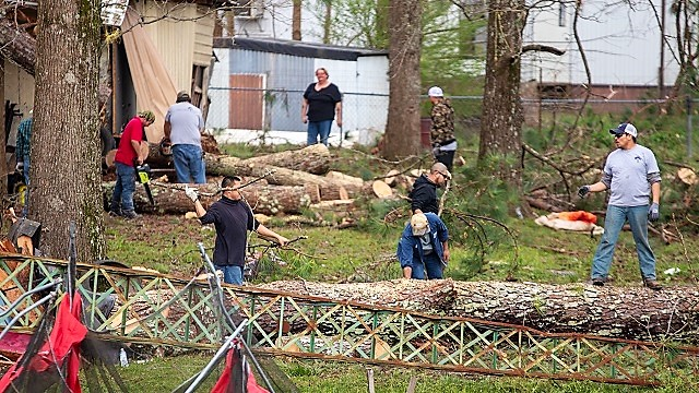 Restoration from tornado damage, power outages continues across Alabama