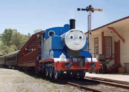Kids love Thomas the Tank Engine. (Heart of Dixie Railroad)