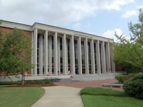 Auburn University's Ralph B. Draughon Library was built in 1962 and named for the institution's 10th president. It houses approximately 2.5 million volumes. (From Encyclopedia of Alabama, photograph by Justin Dubois)