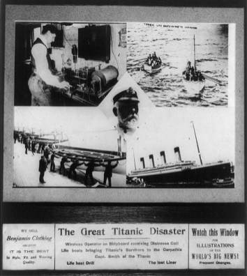 The great Titanic disaster, 1912. (George Grantham Bain Collection, Library of Congress, Prints and Photographs Division)