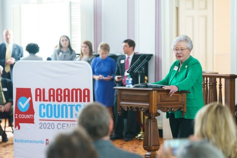 Alabama Gov. Kay Ivey stresses the importance of participation in the 2020 census. (Hal Yeager/Governor's Office)