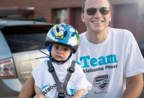 Cycling was among the events at the Chick-fil-A Corporate Challenge. (Chris Jones/Alabama NewsCenter)