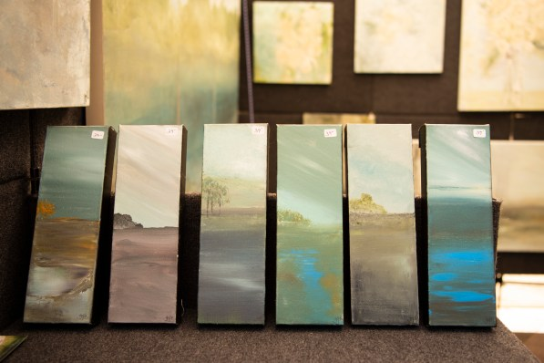 Gyl Turner taught herself to paint in 2012 with a home kit from Hobby Lobby. (Phil Free / Alabama NewsCenter)