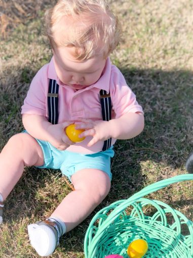 Little ones get to search first for eggs. (Contributed)