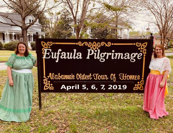 Kate Moore (left) is chairing the annual Eufaula Pilgrimage with help from Julie Bailey, co-chair. (Contributed)