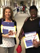 Jill West, left, of the Alabama Partnership for Children, with Samita Jeter, president of the Alabama Head Start Association. (contributed)