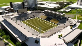 "A rendering of the proposed multipurpose ""Protective Stadium"" to be built in downtown Birmingham. (contributed)"