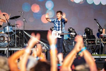 Jimmy Eat World performs at the 2019 Hangout Music Festival. (Nik Layman / Alabama NewsCenter)