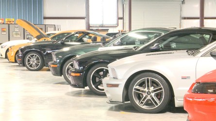 Nearly 100 Ford Mustangs are preserved at the Mustang Museum of America. (Dennis Washington / Alabama NewsCenter)