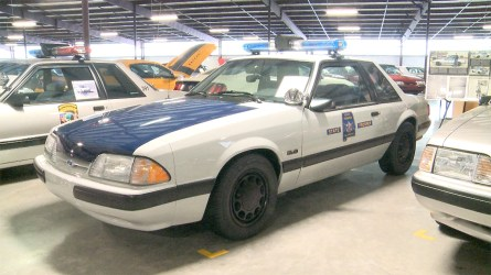 Ford Mustangs were used as law enforcement vehicles across more than two dozen states, including Alabama. (Dennis Washington / Alabama NewsCenter)