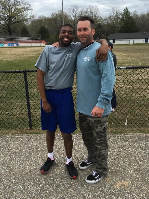 Scott Shultz mentors Ivan at the Greystone YMCA. (contributed)