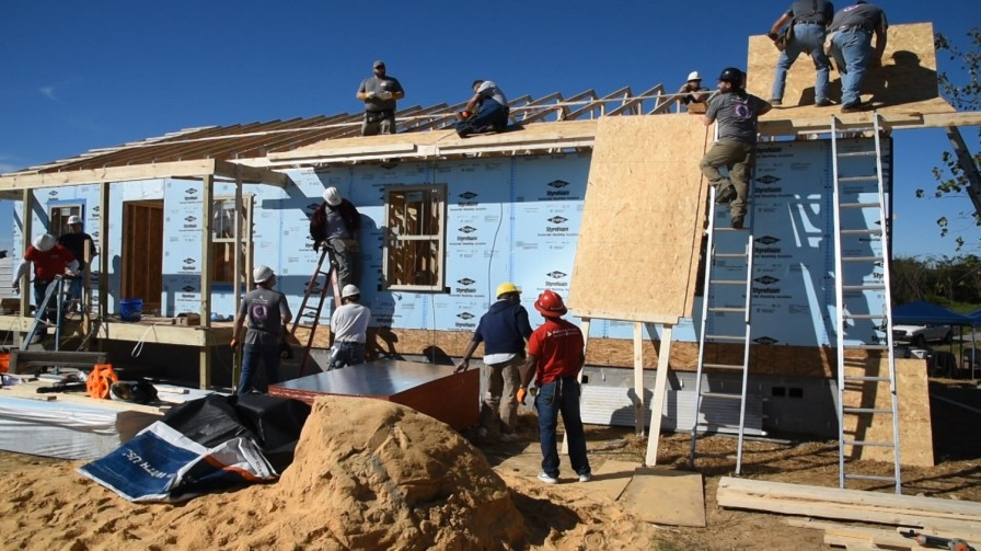 Jason Marcum enjoys volunteering to build houses with Habitat for Humanity because you can change someone's life with a day's work. (Dennis Washington/Alabama NewsCenter)