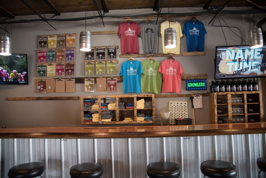 Tallulah Brewing Company in Jasper offers a number hand crafted beers, cider and wines. (Brittany Faush / Alabama NewsCenter)
