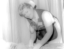 Student in the nursing program. (Wallace Community College)