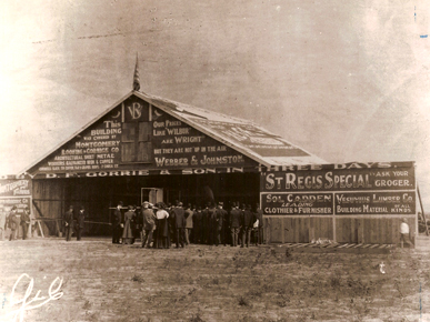 The Wright brothers' civilian flying school, the first in the nation, was founded near Montgomery in 1910. The school operated about two months and graduated one student, Walter Brookins, who made the first recorded night flight on May 25, 1910. (From Encyclopedia of Alabama)