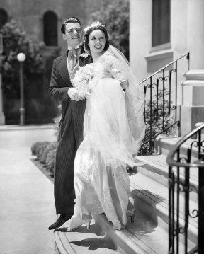Publicity photograph of Wolfe Hopper and Gail Patrick, 1936. (Paramount Pictures, Wikipedia)