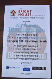The All Hundreds of items will be in the All Things Birmingham auction to raise money for the Bright House Foundation. (Karim Shamsi-Basha / Alabama NewsCenter)Things Birmingham event will raise money for the Bright House Foundation. (Karim Shamsi-Basha / Alabama NewsCenter)