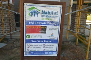 The Edwards family's Habitat for Humanity house will be finished by the end of June. (Danielle Kimbrough)