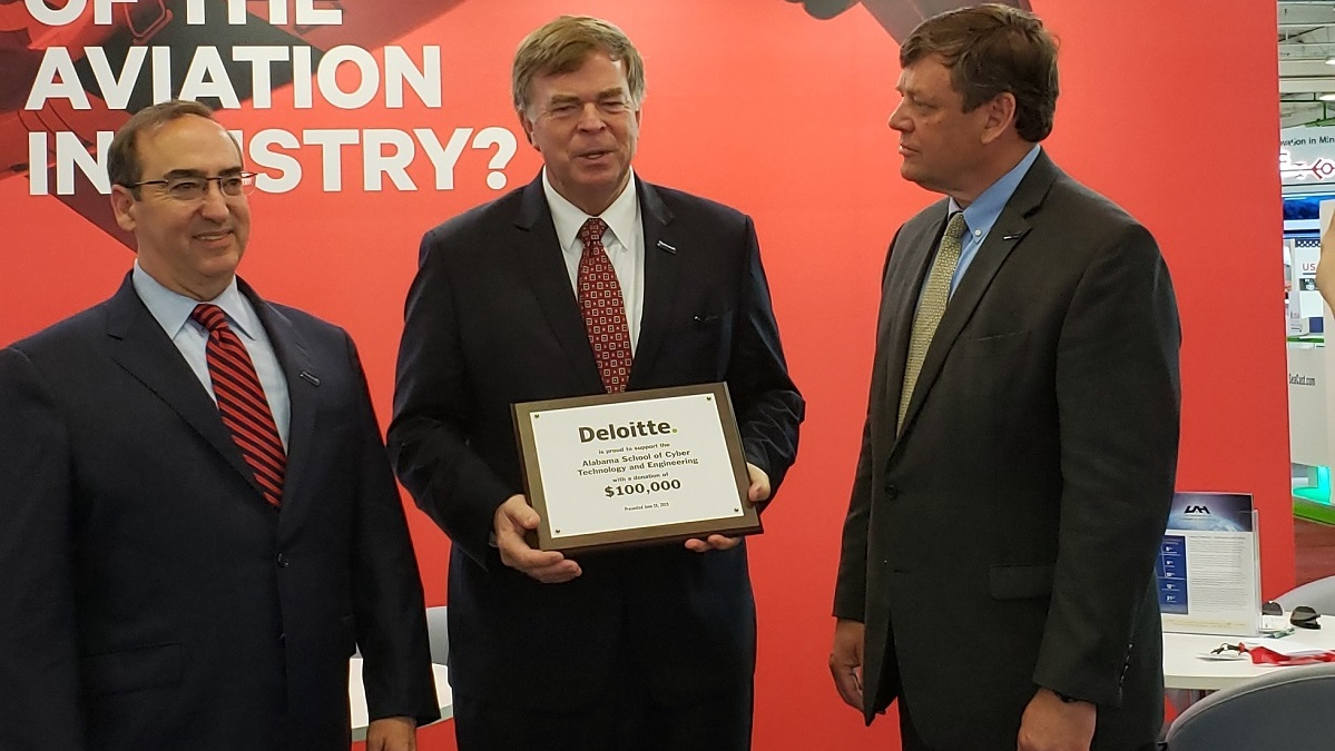 At Paris Air Show, Deloitte gives major gift to advance Alabama Cyber School