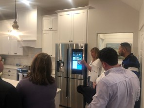A smart refrigerator is among the appliances in the smart home's kitchen. (contributed)