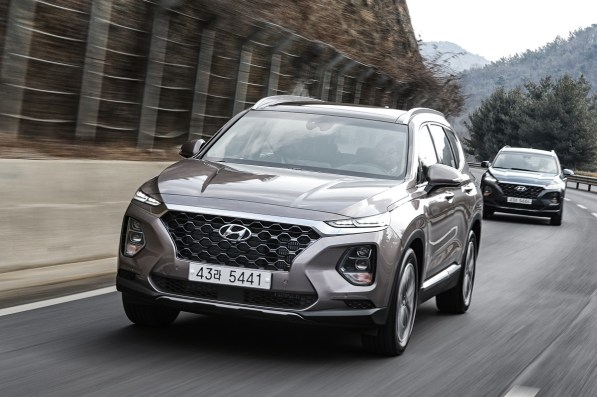 The 2019 Hyundai Santa Fe is among the vehicles produced at Hyundai Motor Manufacturing Alabama. (Hyundai)