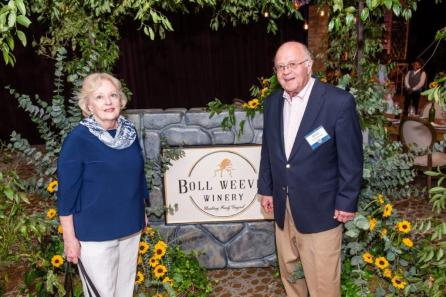 Whit Armstrong, right, with wife, Dr. Rebecca Brown Armstrong. Mr. Armstrong served nearly 37 years on the Alabama Power board of directors. (Nik Layman / Alabama NewsCenter)