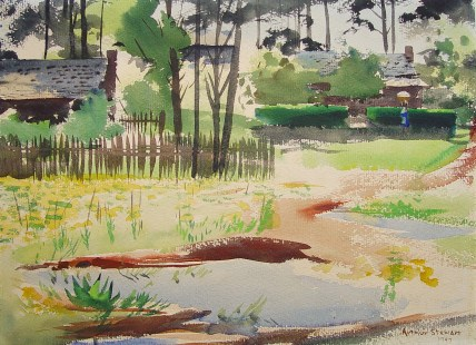 Arthur Walter Stewart, Alabama Landscape, 1947. (contributed)