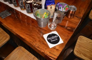 Gibson's coffee-flavored moonshine is a hit, once a customer can be persuaded to taste it. (Michael Tomberlin/Alabama NewsCenter)